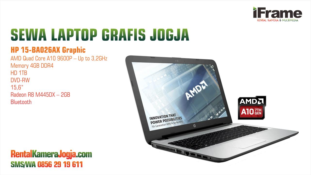 Sewa Laptop Harian Jogja Hp 15 Ba026ax Amd A10